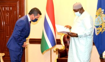 President Barrow Receives the Credentials of the Portuguese
